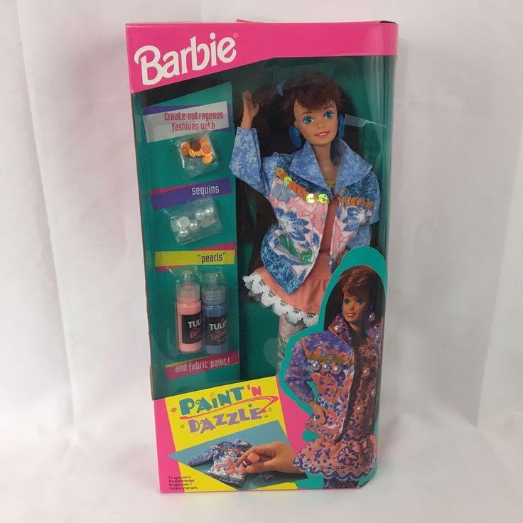 Paint N Dazzle Barbie Mattel 10057 with Tulip Paint Sequins 1993 New in Box #Mattel #Dolls