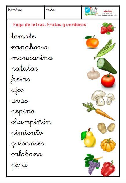 frutas y verduras minúsculas