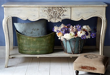 French Chabby Chic done right!  Rustic wood furniture, sun-drenched linen pillows, and accents you'd find in the most charming of French country cottages… This assortment of bucolic beauties is your ticket to perfectly Provençal style.