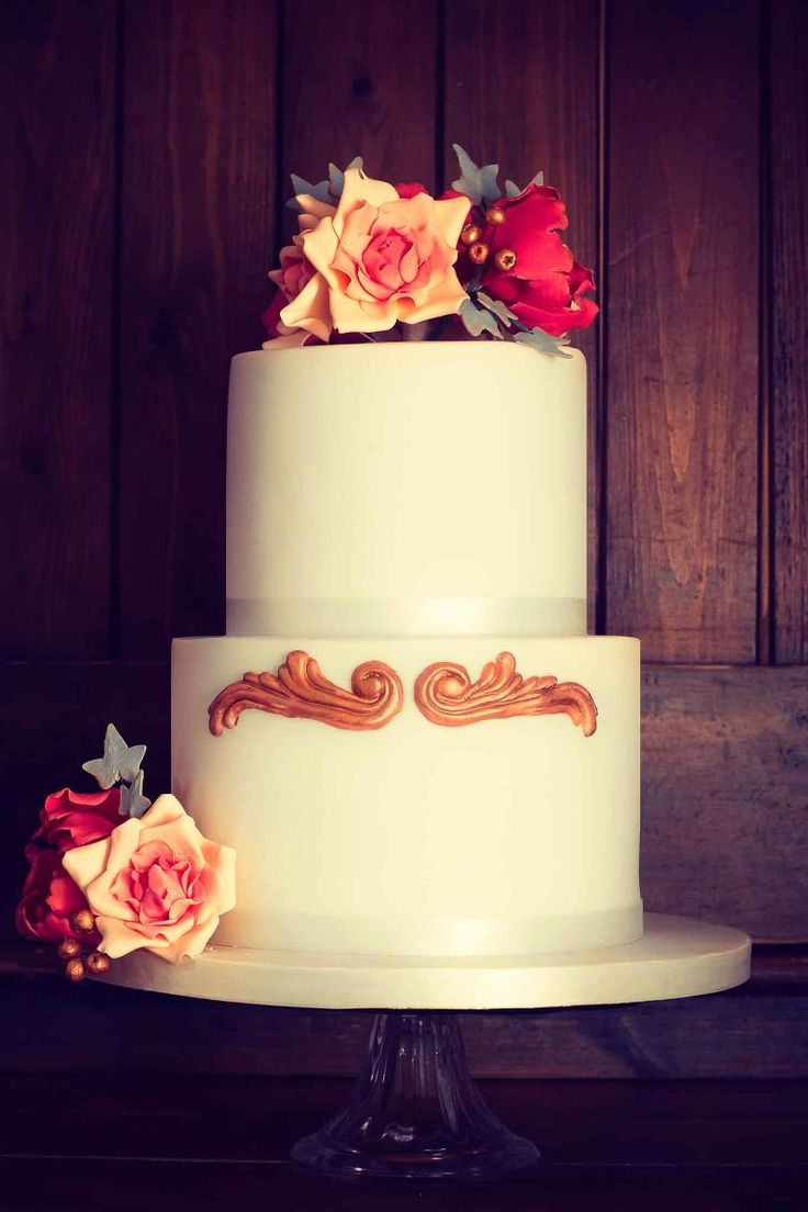 A Very Special Pink Champagne Wedding Cake With Handmade Sugar Peonies Roses Berries And