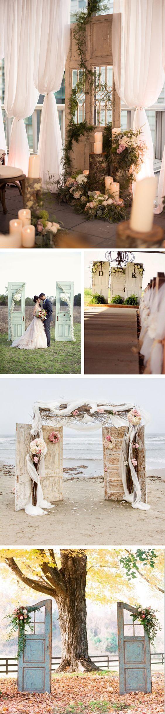 Decora el altar de tu boda con puertas antiguas: