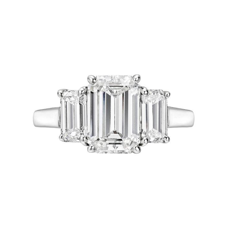 Betteridge Collection 2.02 Carat Emerald-Cut Diamond Engagement Ring