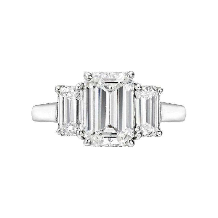 Betteridge Collection 2.02 Carat Emerald-Cut Diamond Engagement Ring
