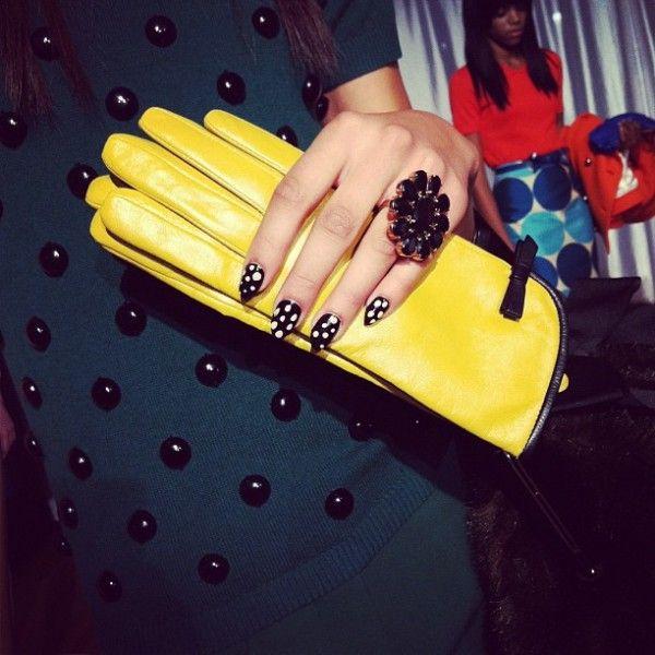 kate spade chic: polka dot nails