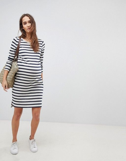 727d0ff3ad6f4 Mamalicious Stripe Jersey Dress | { oh so cute and pregnant ...