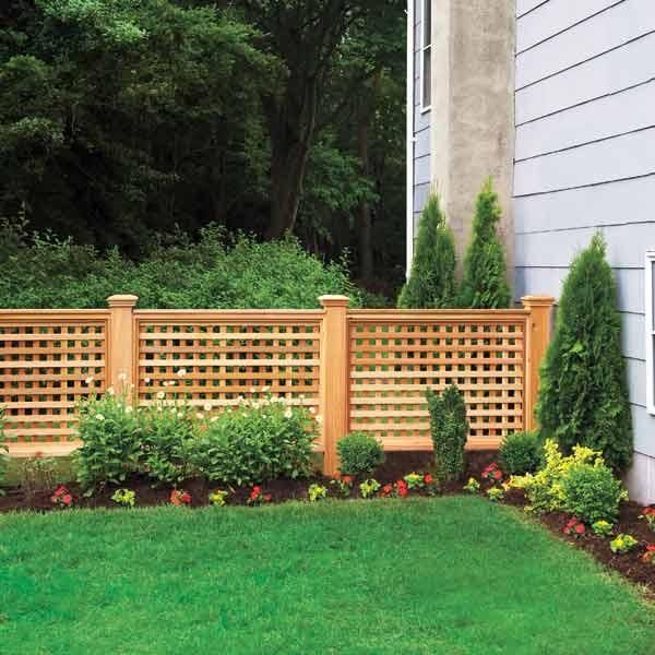 Short fence ideas fabulous around a garden perfect image for Short fence ideas
