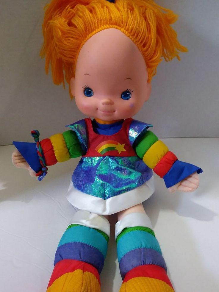 "Vintage Rainbow Brite 18"" Doll 1983 Hallmark Cards Mattel Original Dress #2 #HallmarkCardsIncMattel #RainbowBrite"