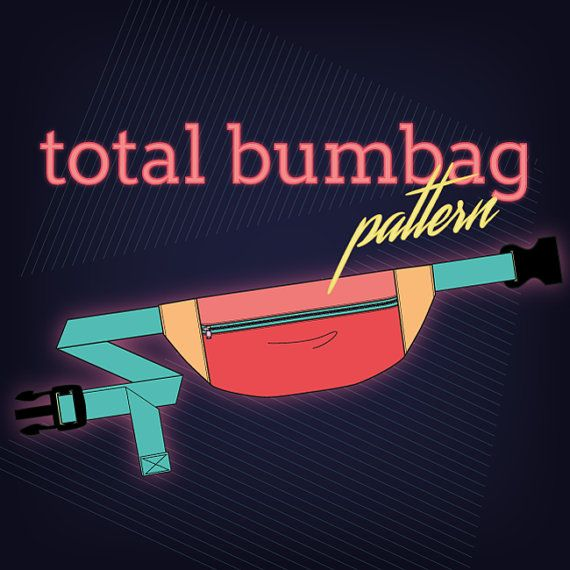 Retro bumbag/ fanny pack pdf pattern https://www.etsy.com/au/listing/292330107/total-and-lil-bumbag-pdf-pattern-for
