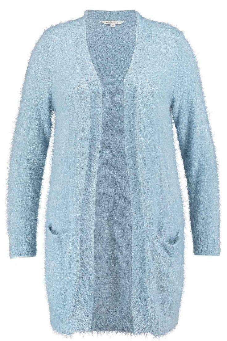 Long cardigan | Fluffy | Blue | Fashion | Plussize fashion | Lang vest