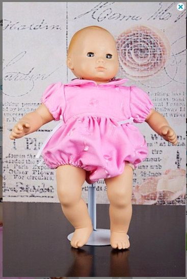 Dollar Sale Vintage Baby Romper pattern - Baby and matching Doll PDF pattern - Sizes Newborn - 36 months and 15 and 18 inch doll
