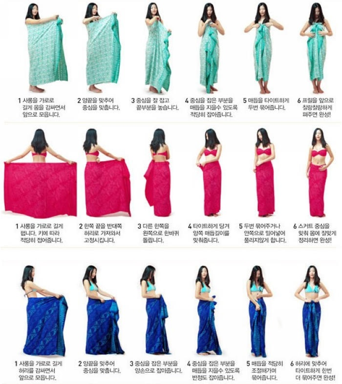how to wrap sarong ikat