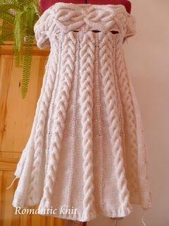 Romantic knit: Рокля Шамони - описание 2 част / Платье Шамони - описание 2 часть