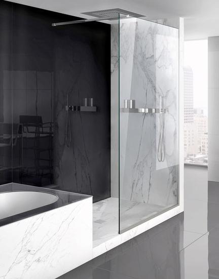 Lama shower screen system by Makro