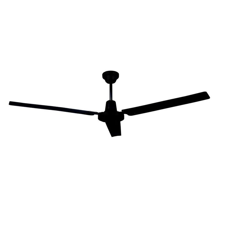 Two ceiling fans in the living room CANARM 56 in. Black Industrial Ceiling Fan with 3 Blades