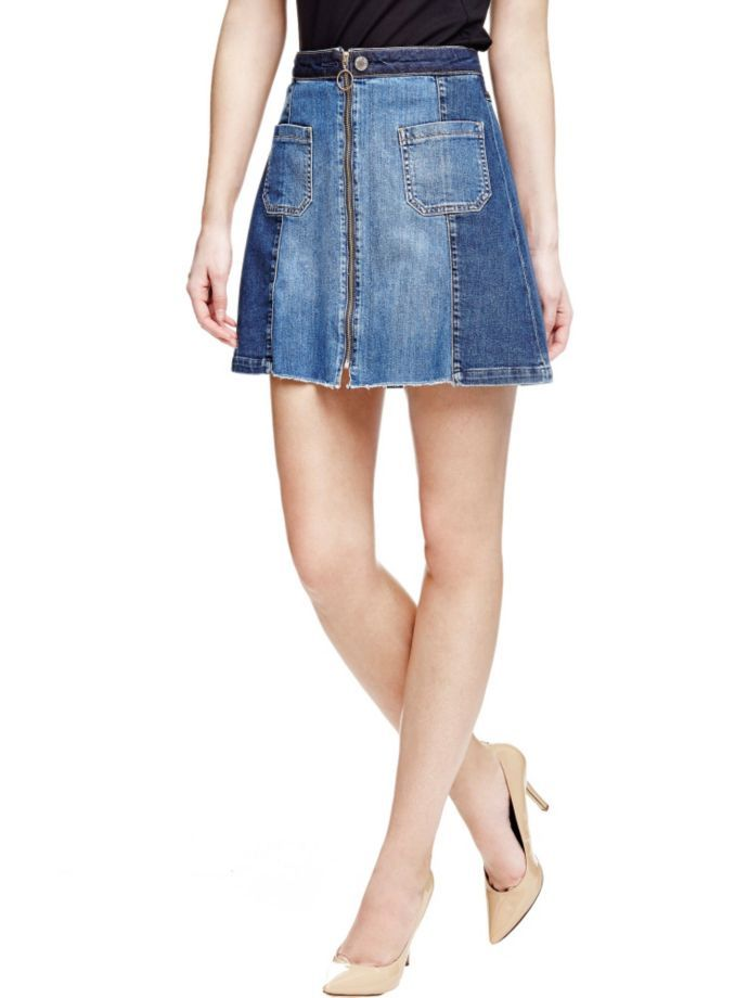 EUR119.90$  Watch here - http://vimco.justgood.pw/vig/item.php?t=2nku0k046535 - JEANS MINI SKIRT WITH ZIP