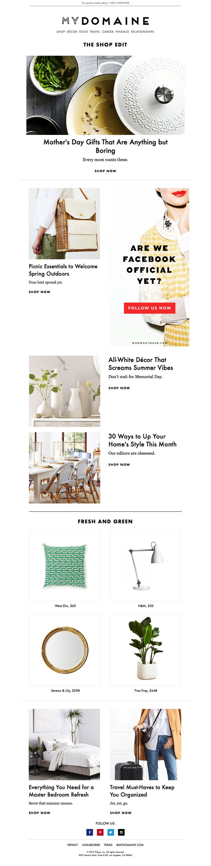 Style at home e-newsletters