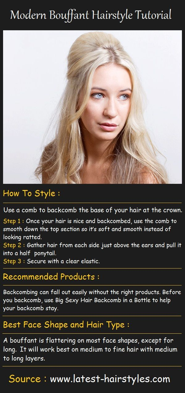 Modern Bouffant Hairstyle Tutorial