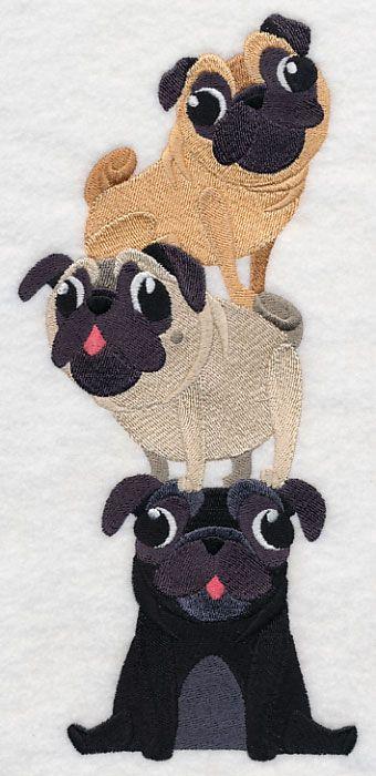 Playful Pugs Stack