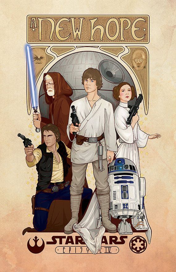 "Star Wars: A New Hope poster - 11""x17"" Art Print"