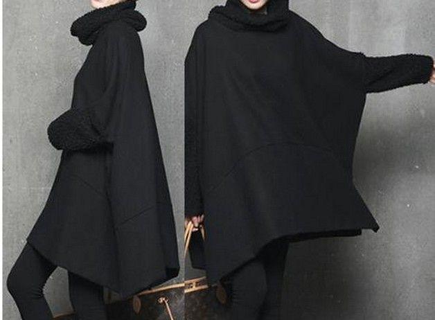 Poncho & Mantelle - Cappotto del Capo - - MB01-2 - nero - un prodotto unico di Lie-ly-et-Za-mong su DaWanda