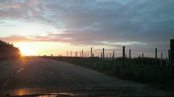 Tisvilde solnedgang i november