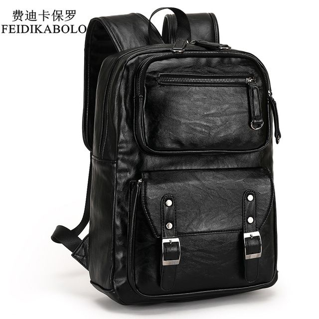 Buy now 2017 POLO Male Leather Backpack Men travel Backpacks Mochila Masculina Black Men's Bookbag laptop backpack Mochilas Para Hombre just only $33.23 with free shipping worldwide  #backpacksformen Plese click on picture to see our special price for you