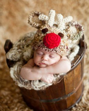 BBB Reindeer Hat  The Perfect Newborn Christmas Photo Prop!   $36.00