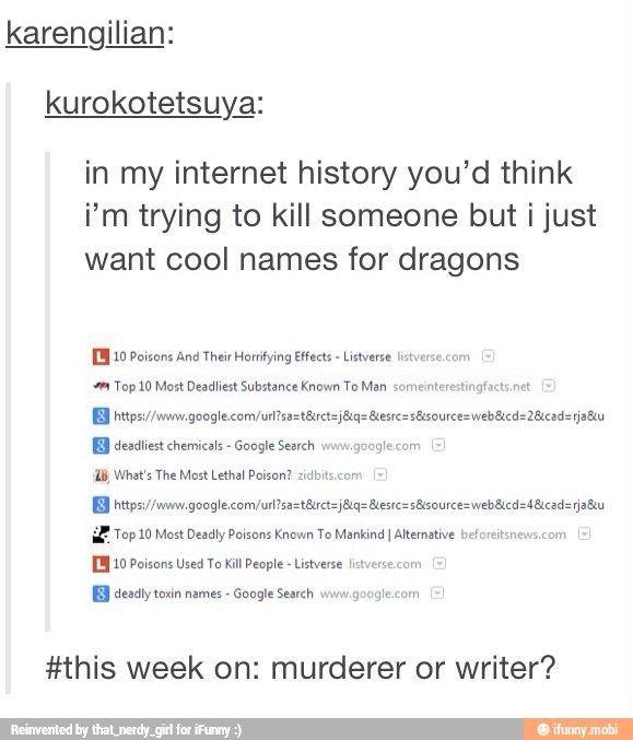 this week on: murderer or writer? --- dragon names | BTS