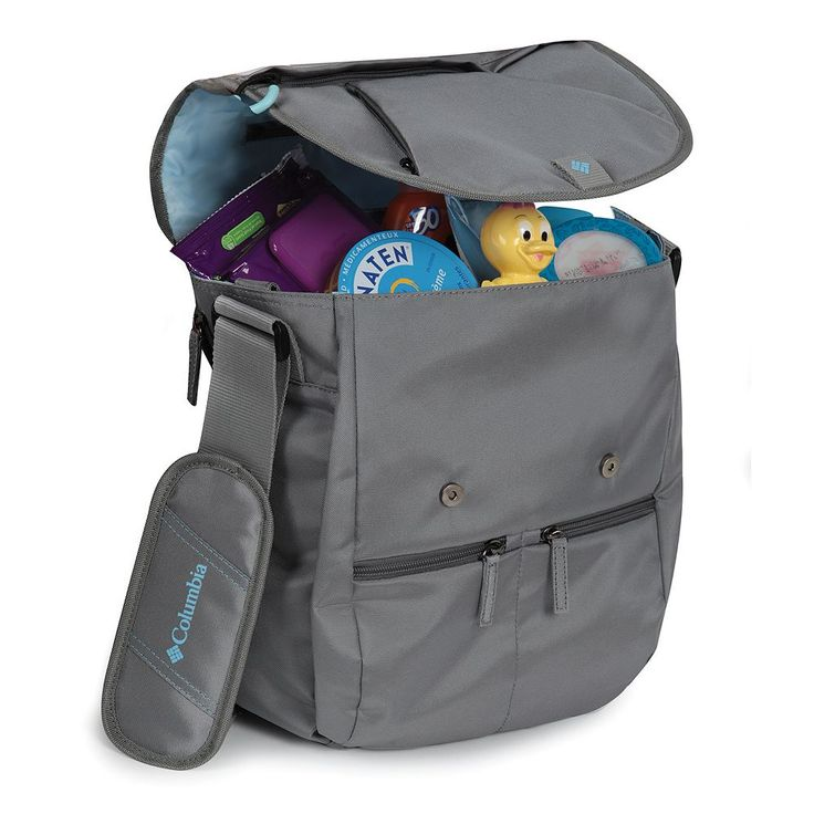 Columbia Rugged Path Expandable Messenger Diaper Bag, Grey