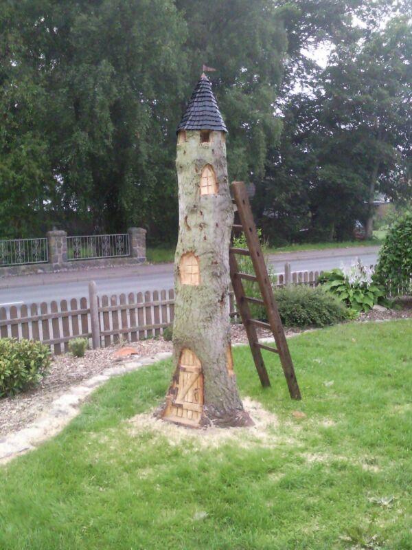 Idee für einen Baumstumpf Bauanleitung zum selber…