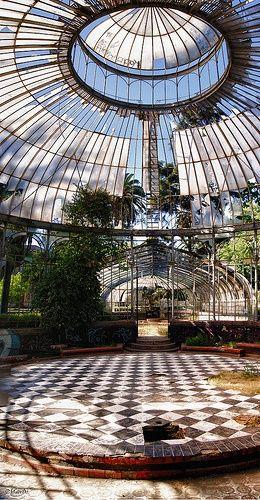 Invernadero Parque Quinta Normal en Santiago.