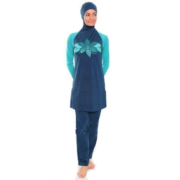Women swimwear Muslim Swimwear Arab Beach SwimSwimSuits bathing suit female maillot de bain femme beach wear biquini womenhigh waist Ramadhan <3 AliExpress Affiliate's Pin.  Click the image to find out more on AliExpress website