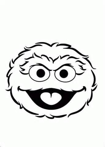 Oscar The Grouch Face Sesame Street Coloring Pages