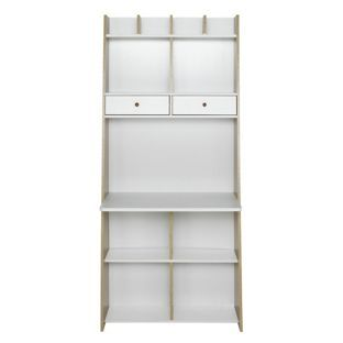 Buy Auckland Wall Unit Desk White And Oak Effect At Visit Art Pinterest