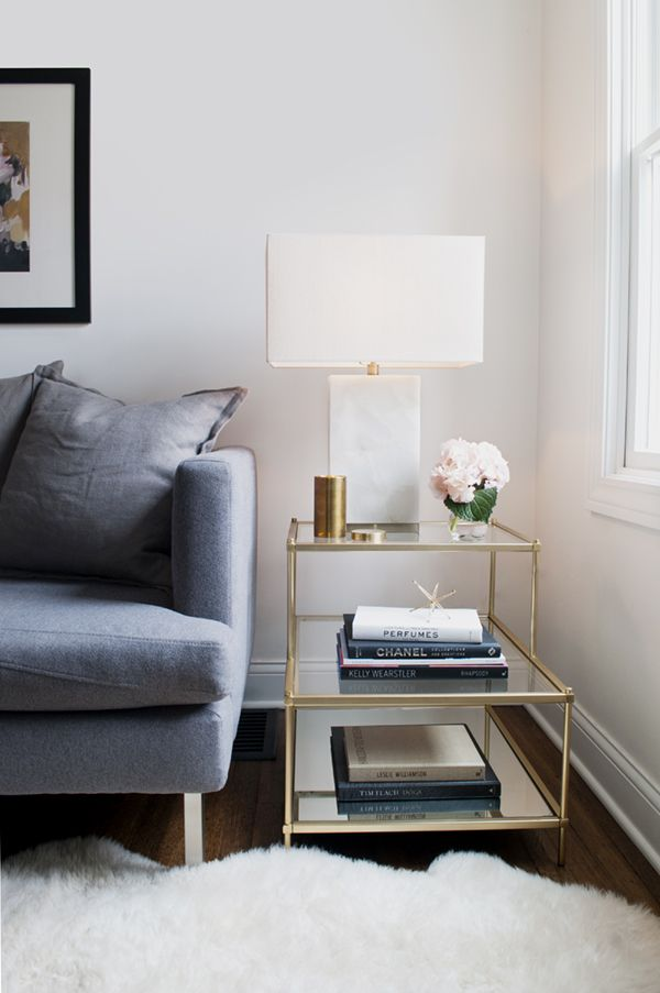 how to style your side table to match your aesthetic - glam | via coco+kelley