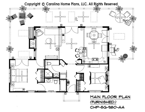 small house plan for down sizing by carolina home plans sg 980