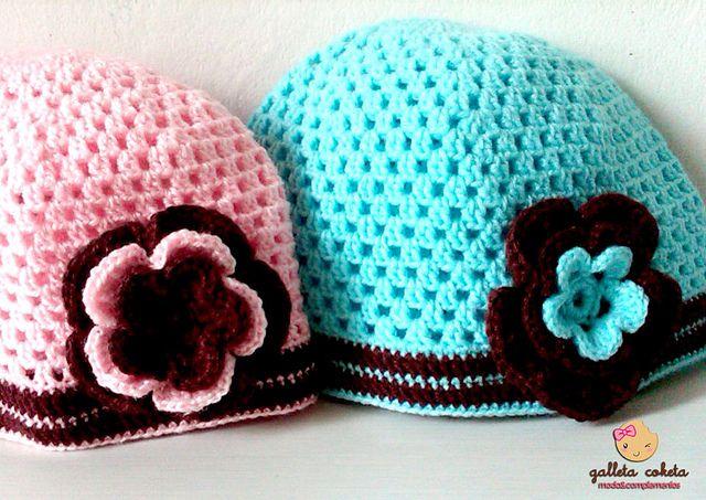 Gorros tejidos al crochet paso a paso - Imagui | Gorros lana ...