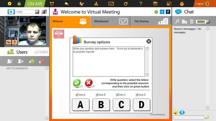 La funzione Live Poll ti permette di lanciare sondaggi durante una videoconferenza