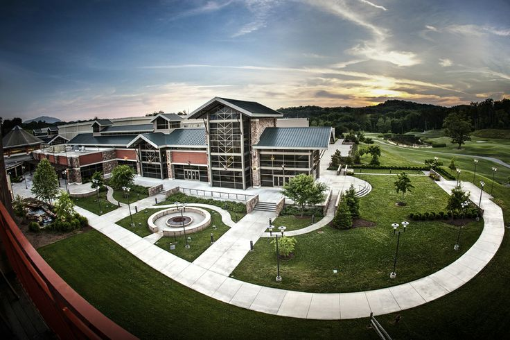 Again, we feature the north side of The Sevierville Convention Center.  This image also allows you to see how close we are to The Sevierville Golf Club!  In fact, attendees can simply walk down from the terrace area and they arrive on the fairways and greens!