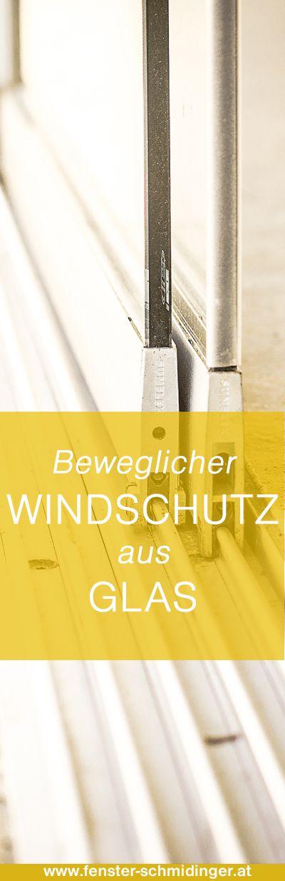 #Beweglicher #Windschutz aus #Glas - #Sunflex