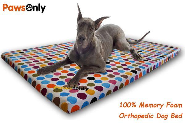 Extra Large Polka Dot Comfort Memory Foam Dog Bed