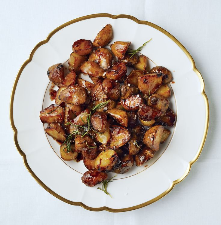 These knobby-looking jerusalem artichokes (a.k.a. sunchokes) are sweet and nutty when browned. Balsamic vinegar smacks some sass into them.