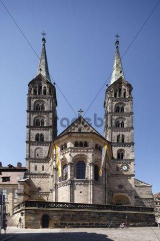 Bamberger Dom cathedral Bamberg Upper Franconia Franconia Bavaria Germany Europe