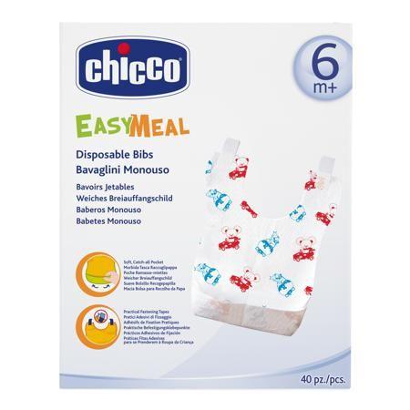Chicco Нагрудники одноразовые (40 шт)  — 985р. ----------------- Одноразовые нагрудники разработаны дизайнерами бренда Chicco специально для того чтобы защитить одежду вашего малыша во время кормления. Впитывающий и непромокаемый материал спасёт от случайно пролитого сока, а вся упавшая пища соберётся в специальный кармашек. Нагрудник удобно крепится к одежде с помощью липучек. Благодаря своим компактным размерам они просто незаменимы в путешествиях..