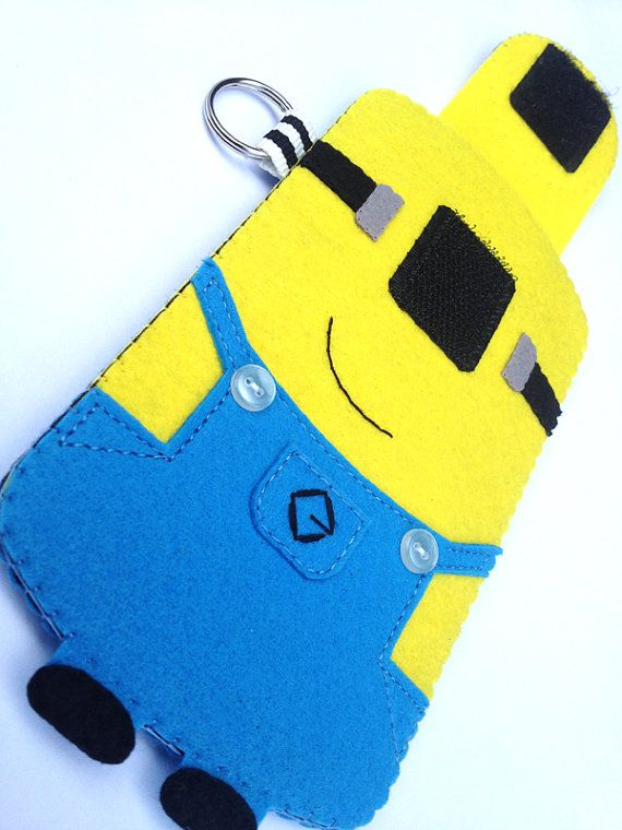 Minion tablet bag DIY: Felt Felt Feltro, Minion Tablet, Minions Madness, Samsung Minions Cute, Iphone Minion Felt, Diy Phone Tablet, Crafts Diy, Craft Ideas, I ️Minions