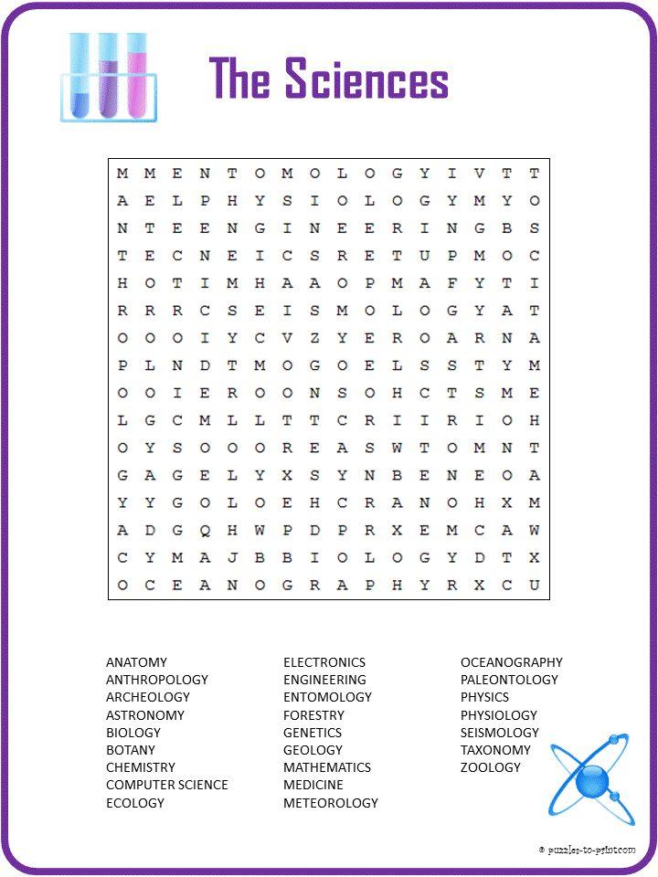 Best 25+ Science word search ideas on Pinterest | Kids word search ...