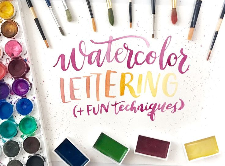 In this class you're going to learn how to start lettering with watercolors, how to use the brush, how to mix colors to get a gradient, how to use masking fluid...