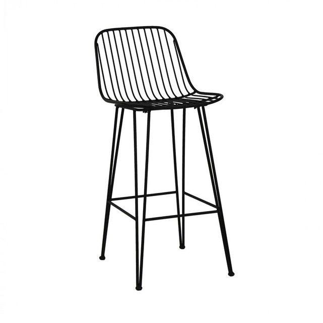Chaise De Bar Design En Metal 67cm Ombra Pomax Noir Drawer La Redoute Chaise De Bar Design Tabouret De Bar Chaise Bar