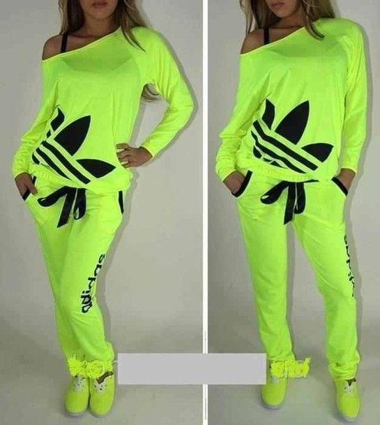Shirt: adidas, womens, highlighter, neon, clothes, off the ...