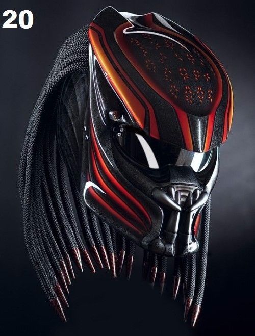 THE AMAZING PREDATOR HELMET STYLE DOT APPROVED #CELLOS